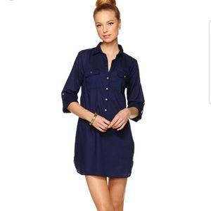 Lily Pulitzer Captiva Tunic Cover Up Blouse Navy